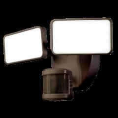 "Heath Zenith HZ-7161 2 Light 10-11//16/"" Wide Integrated LED Outdoor Dual Head Flo"